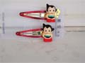 Astro Boy Hair Clips Standing Red And Gold
