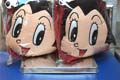 Astro Boy Car Head Rest Cushion 3 Dimensional Set Of 2