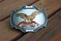 Harley Davidson Gold Eagle With Red Ribbon Belt Buckle