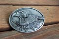 Siskiyou Silver Double Layer Eagle Belt Buckle