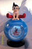 Astro boy desk top clock jumping over
