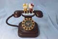 Hello Kitty desk top clock phone shape